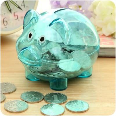 【全館5折】WaBao 小豬透明儲錢桶 小豬公 存錢桶 (大號) =D09091-1=