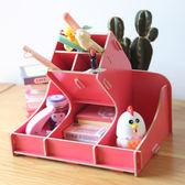 辦公用品多功能高射炮造型筆筒 時尚DIY創意木質收納盒1039 CY潮流站