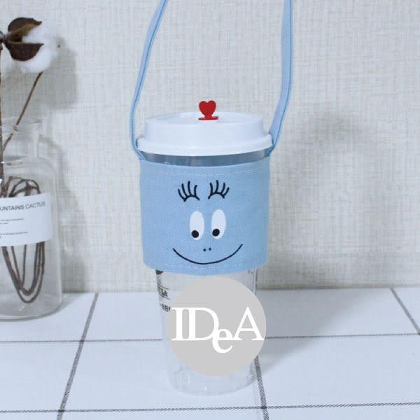 IDEA 泡泡先生Barbapapa 手搖飲料手提袋 杯套 環保 奶茶 咖啡杯 通用 布套 水杯袋