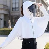 防曬面紗帽子女夏季遮陽帽護臉遮臉夏天防紫外線面罩大沿太陽帽衣