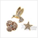 kate spade經典多樣圖案設計鑽鑲飾穿式耳環(金/三只)