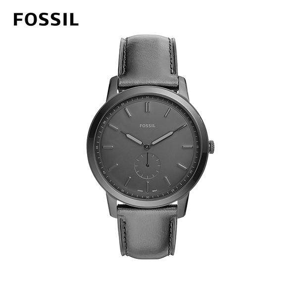 FOSSIL THE MINIMALIST 極薄款男錶-霧黑 44mm FS5447