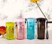雙11瘋狂購-隨行杯水杯430/310ml兒童杯子學生便攜創意塑料防漏運動茶杯