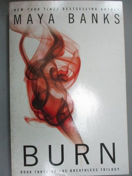 【書寶二手書T5/原文小說_LKK】Burn_Banks, Maya