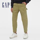 Gap男裝時尚寬鬆設計休閒長褲539562-西班牙橄欖綠
