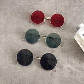 墨鏡韓國chic原宿風眼鏡女復古金屬圓框太陽鏡圓臉網紅時尚墨鏡潮 雲朵走走