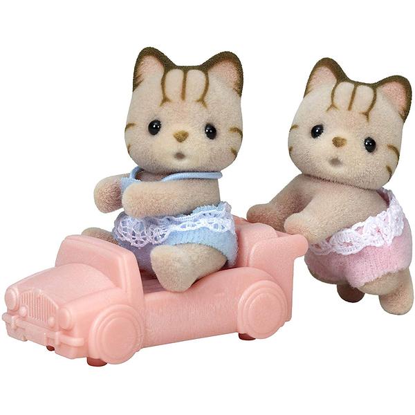 森林家族 人偶 斑紋貓雙胞胎