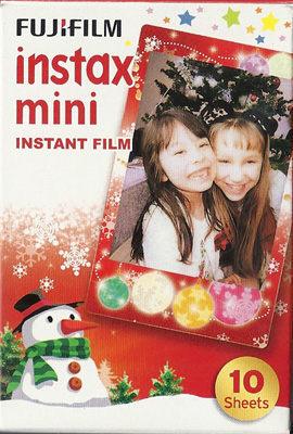 FUJIFILM拍立得 mini25 聖誕版 恆昶保固一年 送卡通底片*1 透明小相冊*1透明保護套+束口袋*1透明相框*1