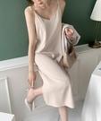 內搭長裙 韓國chic法式小眾復古洋氣內搭吊帶長裙女中長款過膝打底連衣裙子