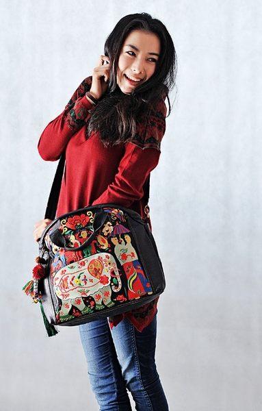 熱銷歐美 高級藤編包 民族風包包 真牛皮 手工刺繡包 學生書包 男女 電腦包 手提肩背包 斜背包