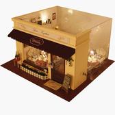 【WT16120910】手製DIY小屋 手工拼裝房屋模型建築-愛的旋律咖啡館