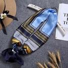 小絲巾女百搭長條細窄韓國領巾裝飾文藝領帶圍巾方巾 黛尼時尚精品