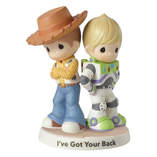 《Precious Moments》DISNEY迪士尼玩具總動員胡迪與巴斯好夥伴水滴娃娃瓷偶-I've Got Your Back_PX03497