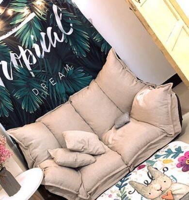 懶人沙發榻榻米摺疊沙發床兩用雙人日式多功能小戶型臥室小沙發椅  魔方數碼館