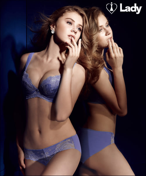 LADY 涼感纖體美型系列 機能調整型 B-D罩內衣(微風藍)