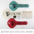 掛勾 壁掛鉤木質復古鑰匙造型金屬3鉤 衣飾品店面居家牆面裝飾收納仿舊loft工業風-米鹿家居