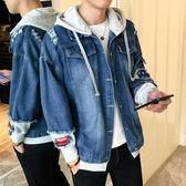 外套男士牛仔衣服韓版潮流寬鬆夾克修身帥氣休閒學生 黛尼時尚精品