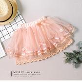 純棉 典雅多層次蕾絲紗裙 內裡棉麻 透氣 蝴蝶結 可愛  哎北比童裝