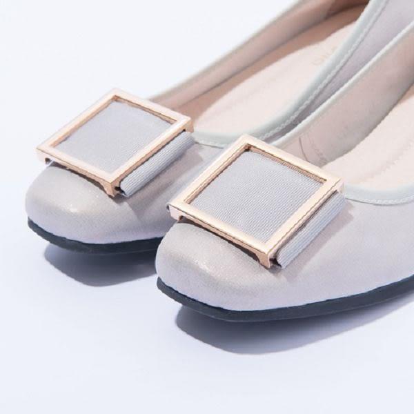 本週下殺★2017春夏新品★itabella.優雅 方形金屬飾釦包鞋(7215-80銀)