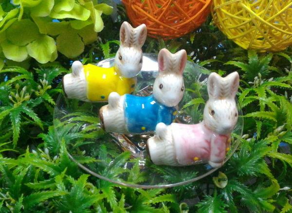 婚禮小物~~甜蜜兔兔陶瓷筷架(快嫁)+喜糖盒包裝/份