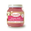 BABYBIO 有機香蕉草莓泥/果泥130ml-法國原裝進口6個月以上嬰幼兒專屬副食品