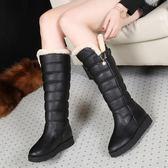 33-34 小碼女鞋 雪地靴冬季保暖加絨松糕厚底防滑防水棉鞋