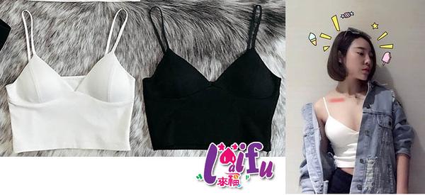 來福小可愛,6607內衣背心T恤胸罩附胸墊打底小背心內搭內衣背心小可愛短版,售價179元