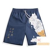 男士泳衣大碼寬松款五分防尷尬速干沙灘褲泡溫泉可下水游泳褲