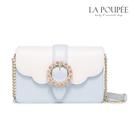 側背包 浪漫璀璨花鑽扣飾小方包 2色-La Poupee樂芙比質感包飾 (預購+好禮)