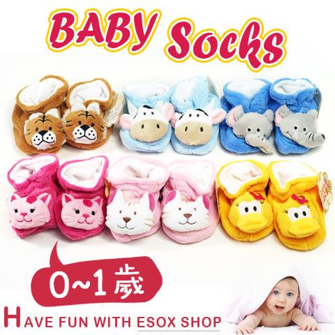 JunTai 厚厚保暖動物頭鞋型寶寶襪│柔軟舒適 兒童襪/嬰兒襪/學步襪