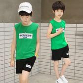男童純棉背心兩件套裝夏季韓版冰瓷棉無袖
