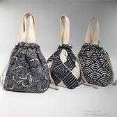 日式可愛飯盒包便當包袋水桶包大容量飯盒袋手提手拎學生帶 【快速出貨】