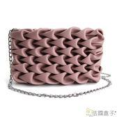 鍊帶包-法國盒子.魅力空氣感編織造型多用包(共二色)6011#