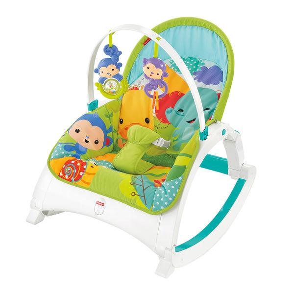 費雪Fisher-Price 可攜式兩用震動安撫躺椅 美泰兒正貨