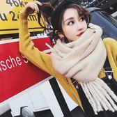 圍巾 日系小清新純色披肩英倫長款加厚韓版百搭圍脖