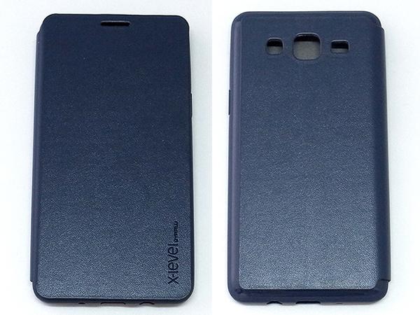 X-level Samsung GALAXY ON5 側翻式手機保護皮套 TPU軟殼全包 纖彩II系列 黑色可選