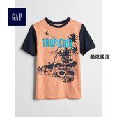 Gap男童 妙趣圖案圓領短袖T恤 310551-酷炫搖滾