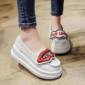單鞋女新款樂福鞋韓版學生百搭鬆糕厚底學院軟妹鞋可愛女鞋