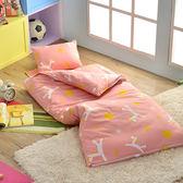 義大利Fancy Belle X Malis《小飛馬-粉紅》單人防蹣抗菌兒童睡袋