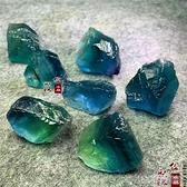 水晶石天然藍螢石原石標本大自然藍綠水晶碎石原礦擺件礦物晶體石原料 快速出貨