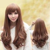 假髮(長髮)-時尚捲髮氣質斜瀏海女配件3色73fi36[時尚巴黎]