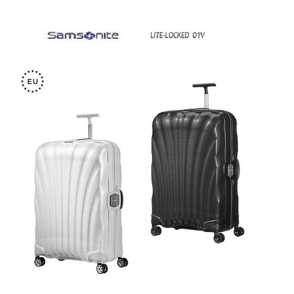 【南紡購物中心】6折福利品 Samosnite 新秀麗 Lite-locked FL 01V 25吋行李箱
