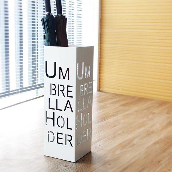 時尚創意字母鐵藝辦公雨傘架門廳家裝收納掛傘架雨傘桶