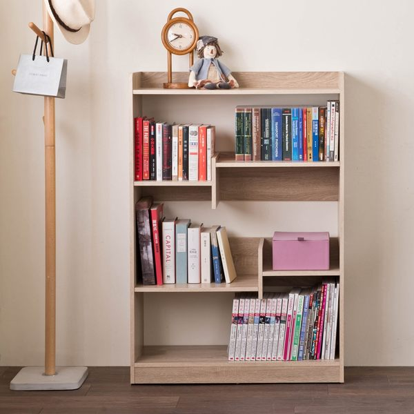 日式 收納櫃 置物櫃【收納屋】佐野可調式書櫃-淺橡木& DIY組合傢俱