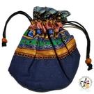 典雅小桶包(藍)【十方佛教文物】