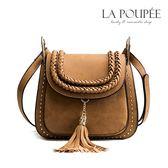側背包 波希米亞流蘇編織帶馬鞍包 4色-La Poupee樂芙比質感包飾 (現貨+預購)