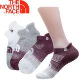【The North Face 運動襪 三雙組《白灰/酒紅》】2XY4/運動襪★滿額送