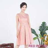 【RED HOUSE 蕾赫斯】無袖繽紛洋裝(亮橘色)