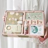 中國風復古手賬本禮盒套裝堇色安年古風燙金手帳【櫻田川島】