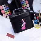 化妝包大容量多功能可愛便攜旅行大號護膚品手提化妝箱多層化妝盒‧復古‧衣閣